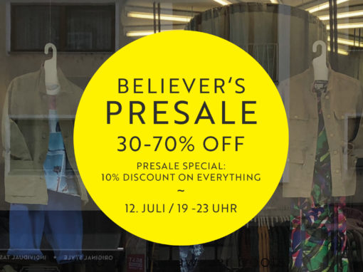 Believer's Presale Party bei ABOUT GIVEN